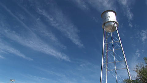 Long-shot of the Marfa water tower Footage