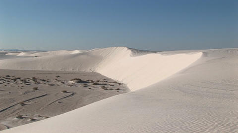 Long-shot of a sand dune at White Sands National Monument in New Mexico Footage