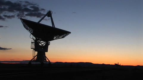Medium-shot of an array at the National Radio Astronomy... Stock Video Footage