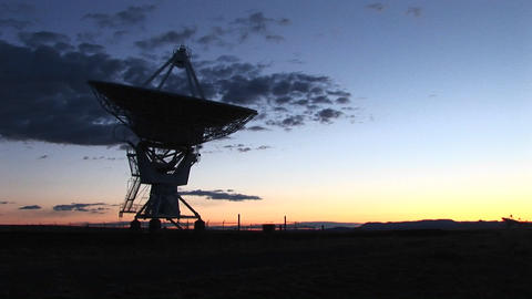 Medium shot of an array at the National Radio Astronomy... Stock Video Footage