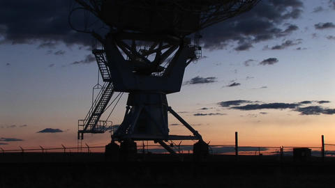 Pan up of an array at the National Radio Astronomy... Stock Video Footage