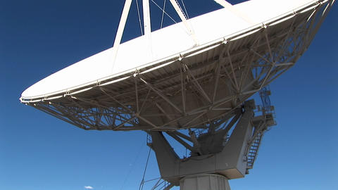 Pan-up of a satellite-dish at the National Radio... Stock Video Footage