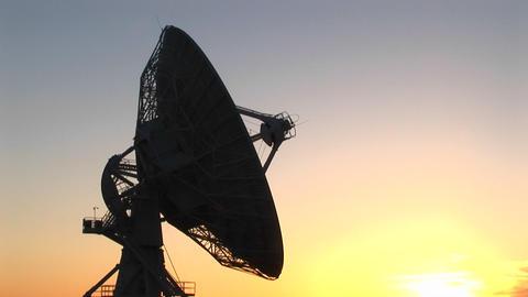 Medium-shot of the satellite dish at the National Radio... Stock Video Footage