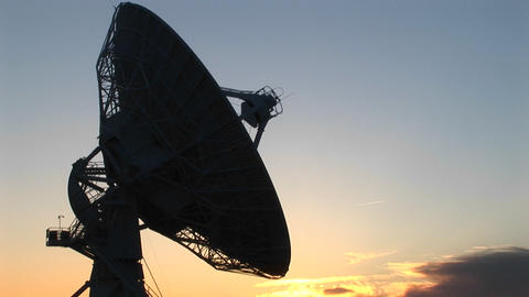 Medium shot of one of the satellite dishes in the array... Stock Video Footage