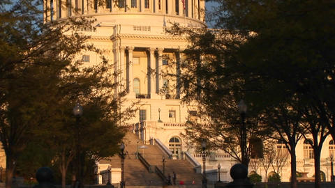 Pan up shot of the United States Capitol building in... Stock Video Footage