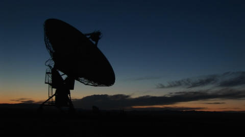Medium shot of the National Radio Astronomy Observatory... Stock Video Footage