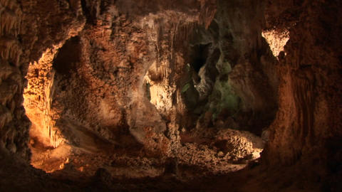 A slow zoom into Carlsbad Cavern cave in New Mexico Footage