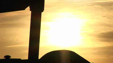 Extreme close-up of an oil pump turning in the New Mexico... Stock Video Footage