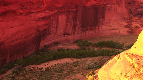 A zoom into an American Indian dwelling on a cliff Stock Video Footage