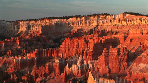 Pan-right shot of Bryce Canyon National Park in Utah Stock Video Footage