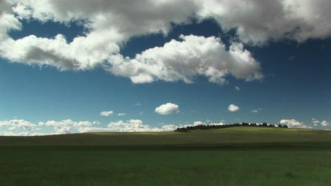 Long shot of grass covered hills outside Zion National... Stock Video Footage