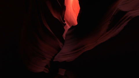 Medium-shot of the interior of a slot canyon at Antelope... Stock Video Footage