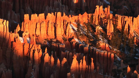 The beautiful spires of Bryce National Park, Utah Footage