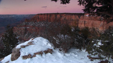 Wide shot of Grand Canyon National Park with foreground... Stock Video Footage