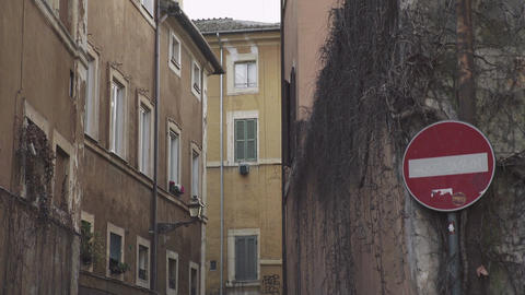 Alley in TRASTEVERE Footage