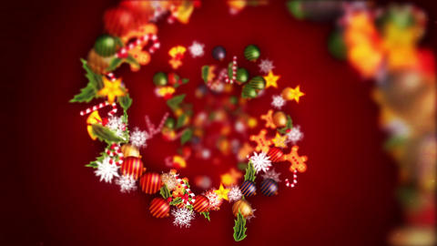 Christmas decoration particles,Red background Animation