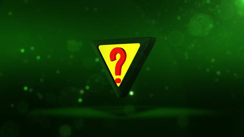 SHA Question Mark Image Green Animation
