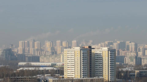 New house in Yekaterinburg. View from Mount Uktusskih Footage