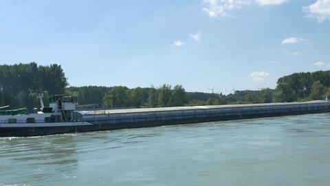 A Barge on the Danube Footage