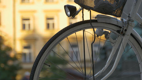 Bicycle Spokes and Lantern Footage