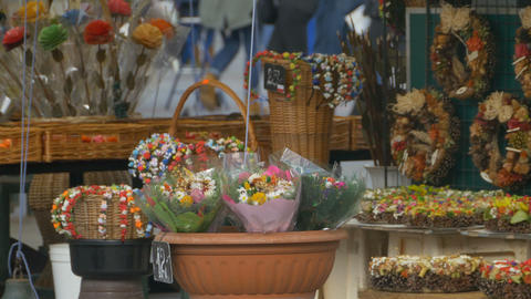Flowers for Sale Stock Video Footage