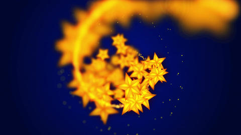 Shining Stars particles,Blue background,CG Animation Animation