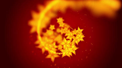 Shining Stars particles,Red background,CG Animation Animation
