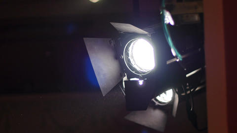 Light Projector at Theater Footage