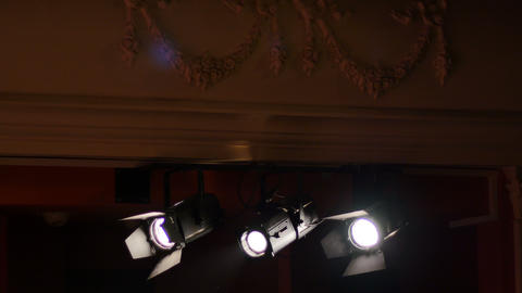 Light Projectors at Theater Footage