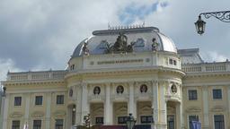 National Slovak Theater in Bratislava Footage