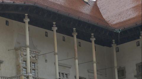 Raining at Wavel Castle Footage