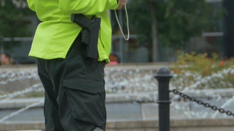Security Man with Gun Footage