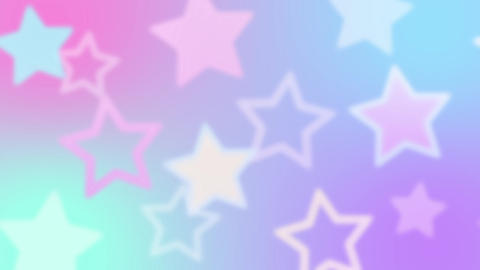 Fantastic and cute star-printed background motion Animation
