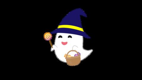 キャンディーを振るオバケ CG動画