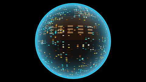 Glowing Sci Fi Sphere. Seamless Loop Animation