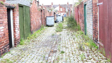 Walking Down A Back Alley In The UK Live Action