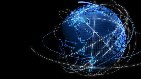 earth digital technology network image background Animation