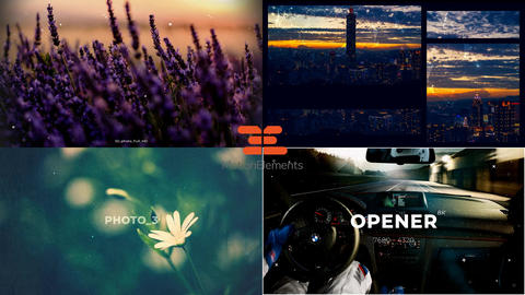 4 stylish slideshows in one file - collection 1 After Effects Template