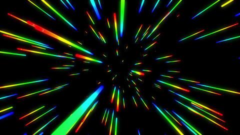 Rainbow Space Warp Travel Version 1 Animation