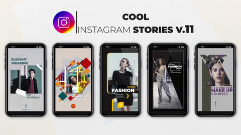 Cool Instagram Stories v 11 After Effects Template