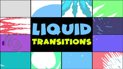 Liquid Transitions Pack 10 MOGRT
