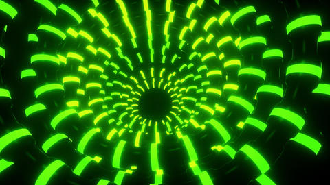 3D Green Abstract Neon Tubes VJ Loop Motion Graphic Background CG動画