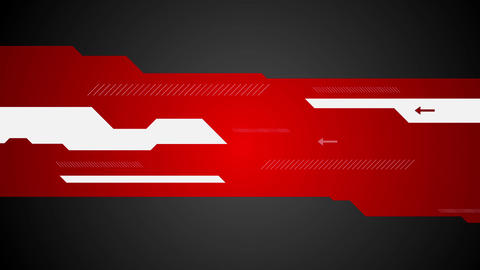 Red black abstract tech minimal motion design Animation