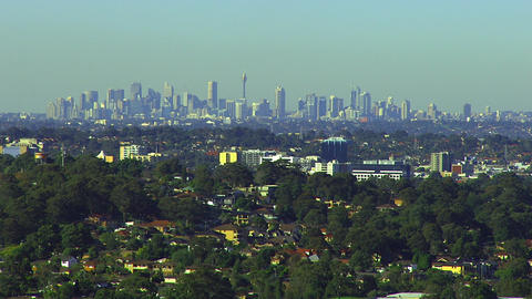 Aerial Sydney Skyline Live Action