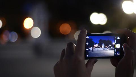 Tourist taking photograph Footage