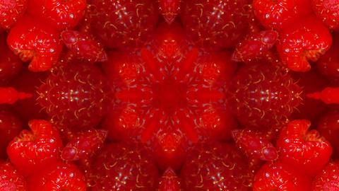 Kaleidoscope fruit vegetable 4k309 Footage