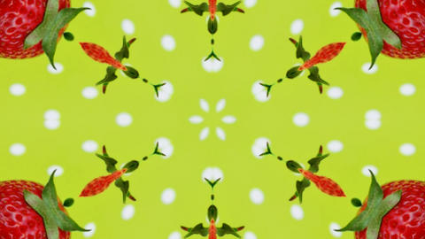 Kaleidoscope fruit vegetable 4k350 Footage