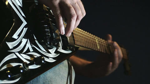 playing electrical guitar: band, musical instrument, cd, sound, rock Footage
