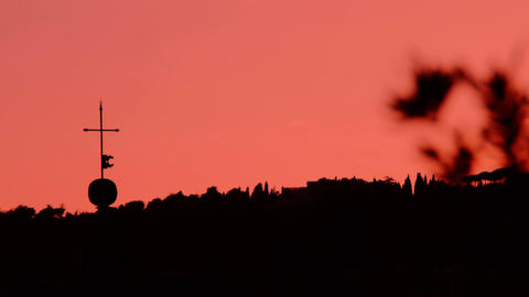 setting of the sun on Rome: 4k footage Footage