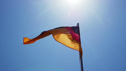 Silky flag of Germany flying in the wind Footage